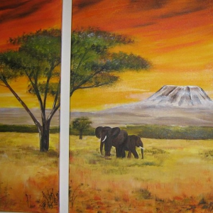 Triptychon Kilimanscharo